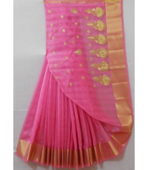 Ultra Light Weight Summer Wear Embroidered Saree