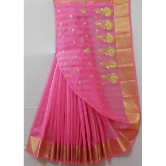 Ultra Light Weight Summer Wear Embroidered Saree
