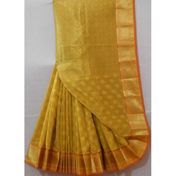 Satin Saree With Zari Brocade & Zari Aanchal