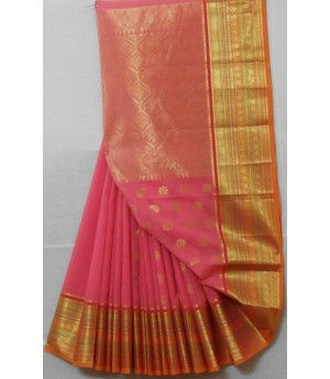Cotton Saree Wide Zari Brocade & Full Aanchal
