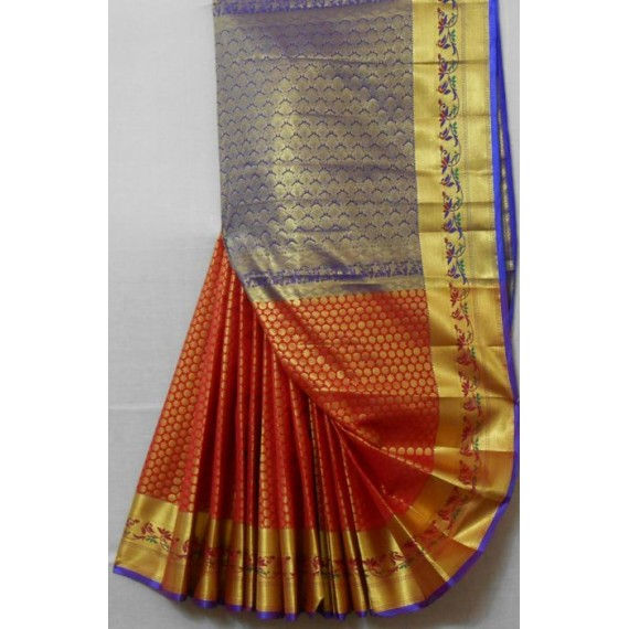 Cotton Banarasi Saree With Full All Over Zari Work