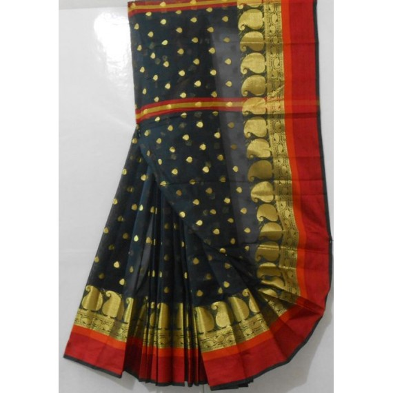 Smart Zari Carry Booti With Resham Brocade Saree