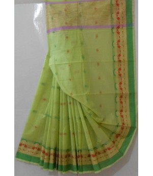 Light Colored Boota All Over Saree With Resham Brocade