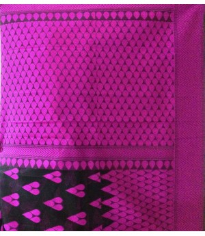 Bindiya Black Kora By Kora Designer Resham Saree