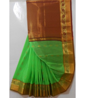 Banarasi Saree Full Zari Aanchal With Twin Color Zari Brocade