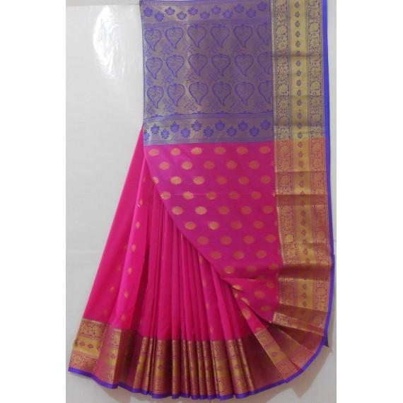 Banarasi Saree With Full Zari Aanchal & Wide Zari Brocade
