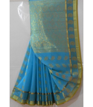 Banarasi Saree With Full Zari Aanchal & Kangoora All Over Brocade