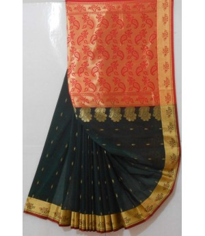 Banarasi Saree With Full Zari Aanchal & All Over Booti Zari Brocade