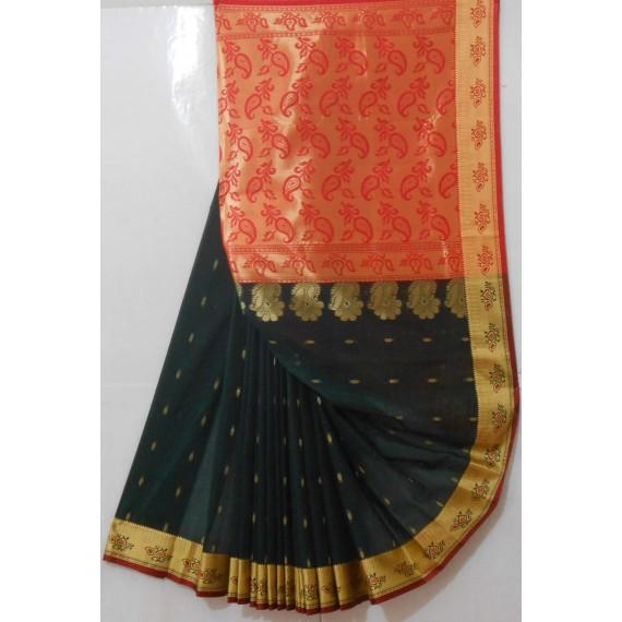 Banarasi Saree With Full Zari Aanchal & All Over Booti Zari Brocade
