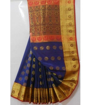 Banarasi Saree With Full Zari Aanchal & Oval Zari Boota All Over