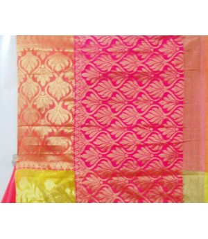 Cotton Kota Satin Patola Wide Scott Zari Brocade