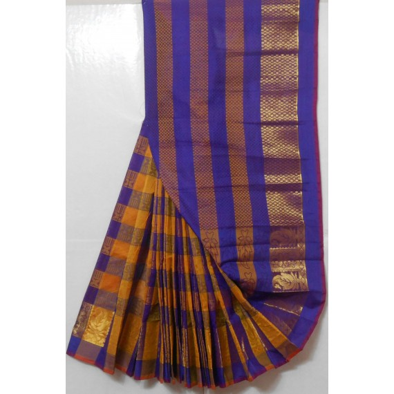 Manikarnika Dual Color Bar Saree With Gold Zari Brocade