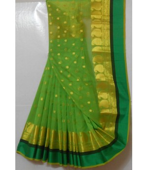 Ultra Soft Cotton Mango Resham Booti Saree