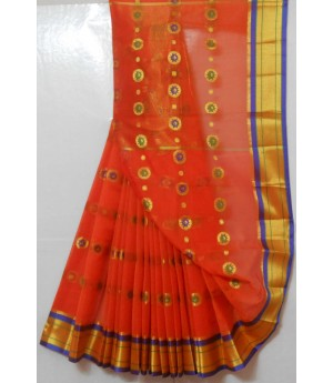 Ultra Soft Cotton Paithani Meena Boota Saree