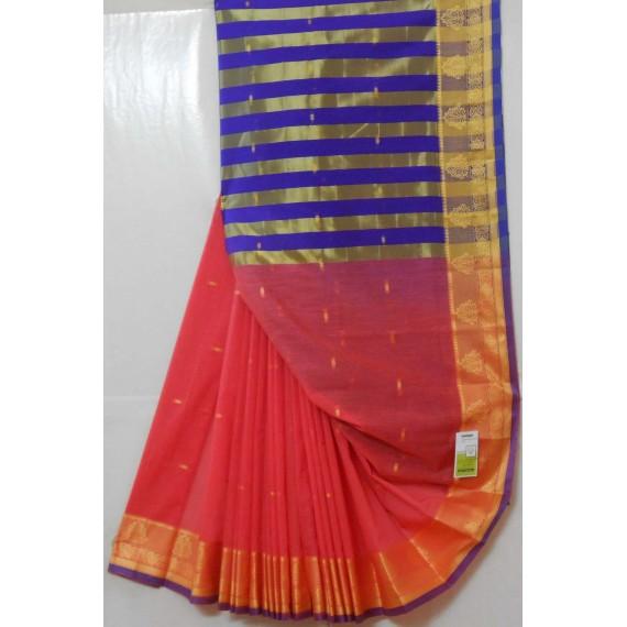 Ultra Soft Cotton Resham Booti Saree With Resham Brocade