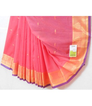 Ultra Soft Cotton Resham Booti Saree With Resham Brocade