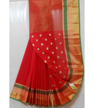 Ultra Soft Cotton Booti Embroidery Saree