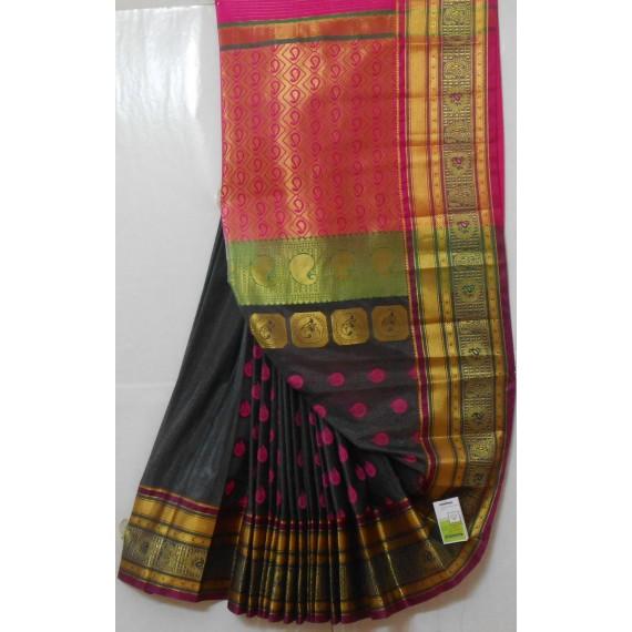 Banarasi Silk Zari All Over With Resham Boota Saree