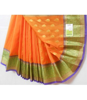 Banarasi Silk Saree Full Zari Work With Kangoora Brocade Stone Work