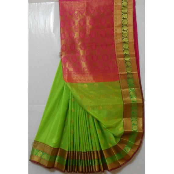 Banarasi Silk Saree Full Zari Work With Kangoora Brocade