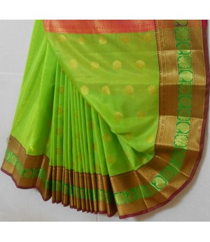 Banarasi Silk Saree Full Zari Work With Kangoora Brocade