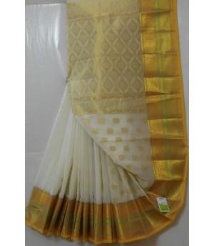Banarasi Cotton Saree With Full Gold Zari Work Saree