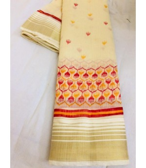 Pure Linen Digital Printed Saree