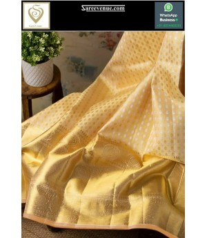 Kanchipuram Silk Saree With Gold Zari Brocade