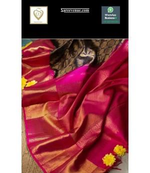 Banarasi Silk Saree All Over Weave With Satin Brocade