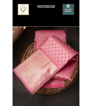 Banarasi Silk Saree All Over Weave With Gold Zari Brocade