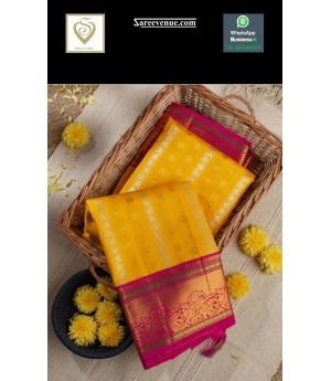 Banarasi Silk Saree All Over Weave With Gold Zari Brocade