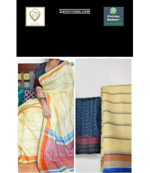Linen Ultra Fine Soft Fabric Printed Saree