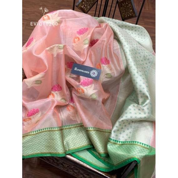 Pure Tissue Silk Banarasi All Over Resham & Zari Weave Saree