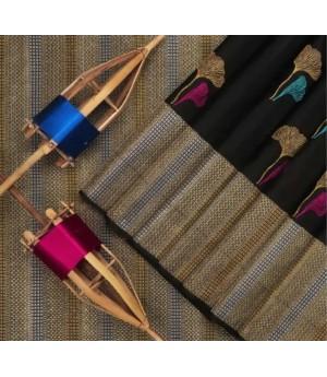 Banarasi Silk Saree All Over Multi Color Boota With Gold Zari Brocade